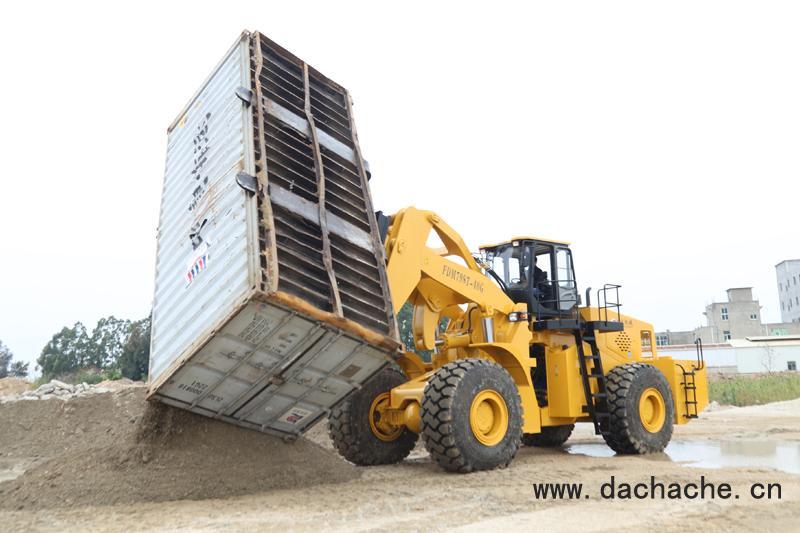 装卸集装箱的是什么车?福大集装箱翻转叉车